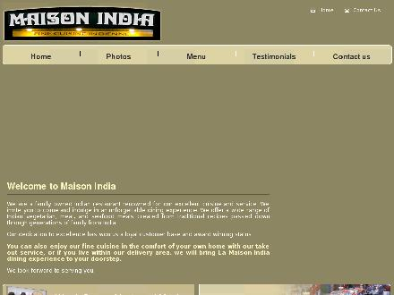 Maison India (514-485-2122) - Onglet de site Web - http://www.maisonindia.com
