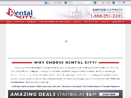 Rental City Rent To Own (705-526-9090) - Onglet de site Web - http://www.rentalcity.ca