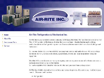 Air-Rite Refrigeration & Mechanical Inc (204-895-2300) - Onglet de site Web - http://www.air-rite.ca