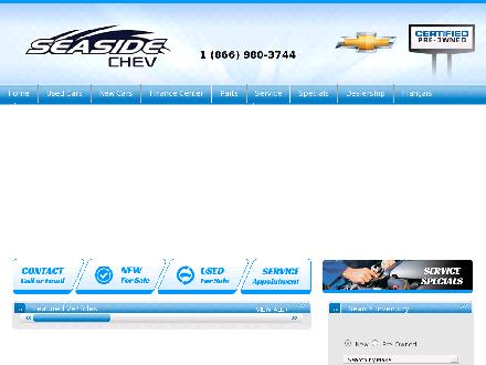 Seaside Chevrolet (506-532-6666) - Onglet de site Web - http://www.seasidechev.com
