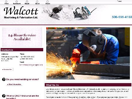 Walcott Machining & Fabrication Ltd (506-696-4160) - Onglet de site Web - http://walcottmachining.ca/