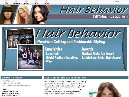 Hair Behavior (403-320-1617) - Website thumbnail - http://www.hairbehavior.ca