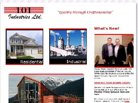 101 Industries Ltd (250-632-9704) - Onglet de site Web - http://www.101industries.com