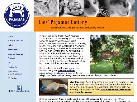 Cat's Pajamas Cattery (604-612-3421) - Onglet de site Web - http://www.catspajamas.ca