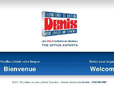 Denis Fournitures De Bureau (819-561-5611) - Website thumbnail - http://www.denis.qc.ca