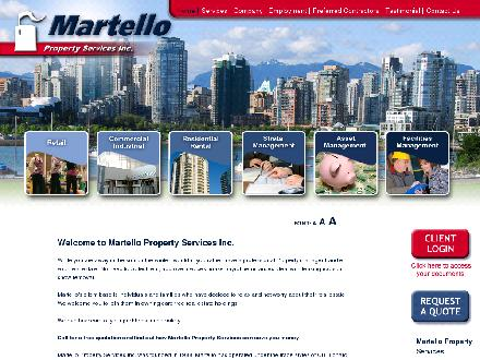 Martello Property Services Inc (604-681-6544) - Website thumbnail - http://martellops.com
