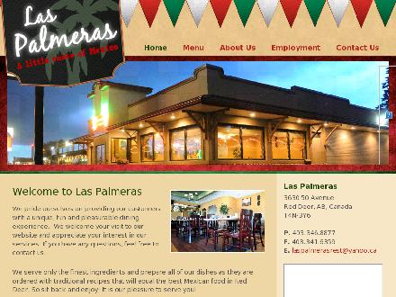 Las Palmeras (403-346-8877) - Onglet de site Web - http://www.laspalmeras.ca