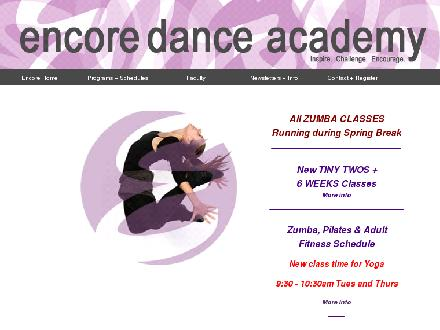 Encore Dance Academy Inc (604-468-7400) - Website thumbnail - http://www.encoredanceacademy.ca