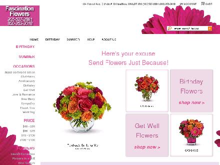 Fascination & Rosery Florist (905-527-2881) - Onglet de site Web - http://www.fascinationroseryflorist.com