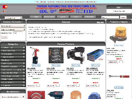 Thirsk Automotive Distributors (403-783-2921) - Onglet de site Web - http://www.thirskauto.com