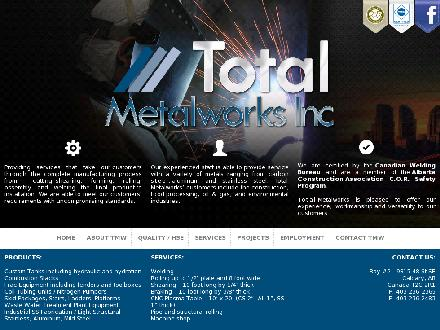 Total Metal Works Inc (403-236-2365) - Onglet de site Web - http://www.totalmetalworks.com