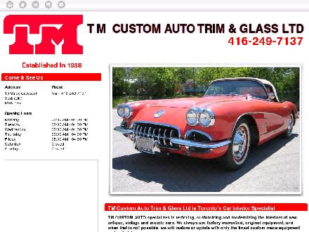 T M Custom Auto Trim & Glass Ltd (416-249-7137) - Website thumbnail - http://tmcustomauto.com