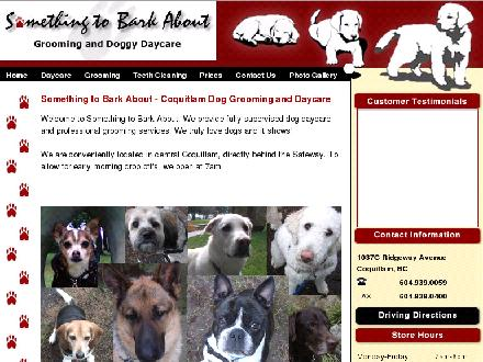 Something To Bark About Grooming & Doggy Daycare (604-939-0059) - Onglet de site Web - http://www.somethingtobarkabout.ca