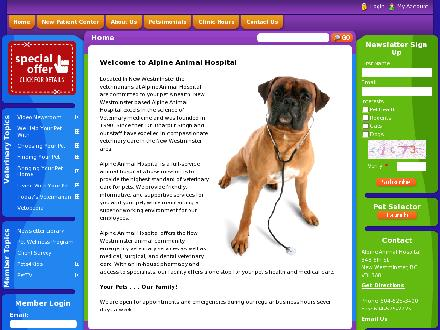 Alpine Animal Hospital (604-549-5097) - Website thumbnail - http://www.killarneyvets.ca