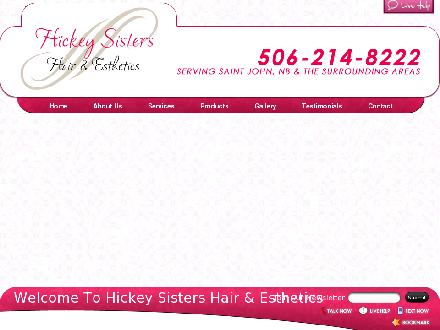 Hickey Sisters Hair (506-214-8222) - Onglet de site Web - http://www.hickeysistershairandesthetics.com