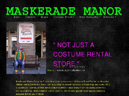 Maskerade Manor (519-658-6260) - Website thumbnail - http://www.maskerademanor.ca