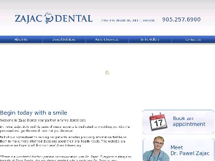 Zajac Dental (905-257-6900) - Website thumbnail - http://www.zajacdental.com