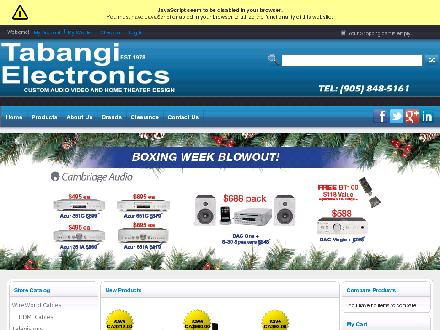 Tabangi Electronics Ltd (905-848-5161) - Onglet de site Web - http://www.tabangielectronics.com/
