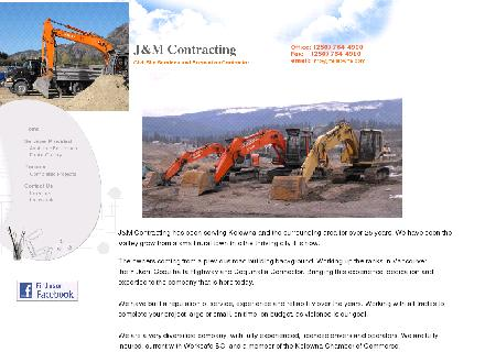 J &amp; M Contracting (250-764-4900) - Onglet de site Web - http://www.jmkelowna.com