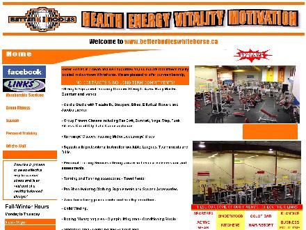 Better Bodies Crosstraining Centre (867-633-5245) - Onglet de site Web - http://www.betterbodieswhitehorse.ca