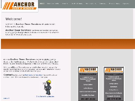 Anchor Door Services Ltd (250-980-0704) - Website thumbnail - http://www.anchordoor.com