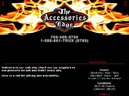 Accessories Edge Ltd The (780-608-8789) - Onglet de site Web - http://www.truckaccessoriescamrose.ca