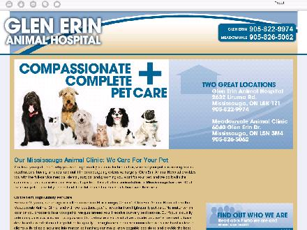 Glen Erin Animal Hospital (905-822-9974) - Website thumbnail - http://glenerinanimalhospital.com/