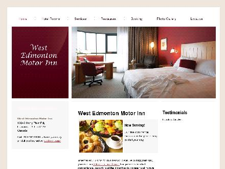 West Edmonton Motor Inn (780-970-6756) - Website thumbnail - http://www.westedmontonmotorinn.com