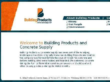 Building Products & Concrete Supply LP (204-669-5666) - Website thumbnail - http://www.bpconcrete.com