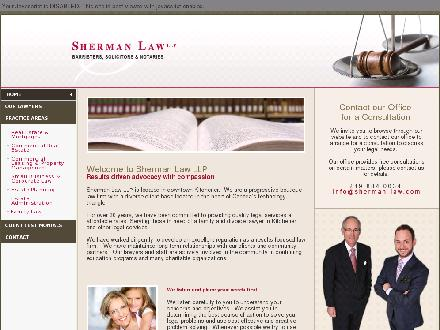 Sherman Law LLP (519-884-0034) - Onglet de site Web - http://www.sherman-law.com