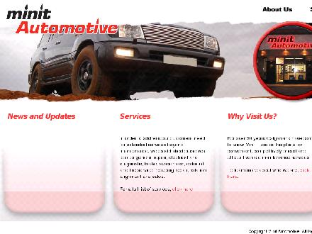 Minit Automotive (403-255-6365) - Onglet de site Web - http://www.minitautomotive.com