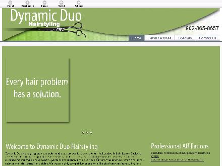 Dynamic Duo Hairstyling (902-865-8657) - Onglet de site Web - http://dynamicduohairstyling.com