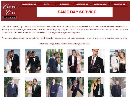Capital City Tuxedo (250-384-8213) - Website thumbnail - http://www.citytux.com