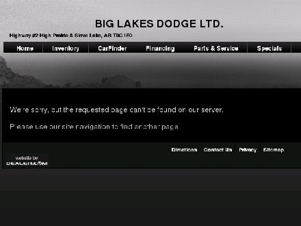 Big Lakes Dodge Ltd (780-849-5225) - Website thumbnail - http://www.biglakesdodge.com/slave-location.php