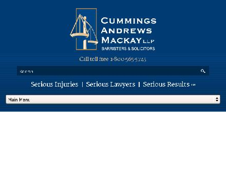 Cummings Andrews Mackay LLP (1-855-791-9124) - Onglet de site Web - http://www.camllp.com