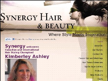 Synergy Hair & Beauty (604-948-4861) - Onglet de site Web - http://www.synergyhairandbeauty.com