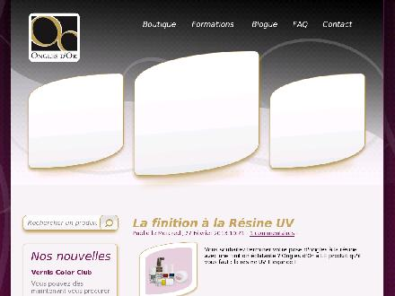 Distributions Ongles d'Or (418-831-4484) - Onglet de site Web - http://WWW.ONGLESDOR.COM