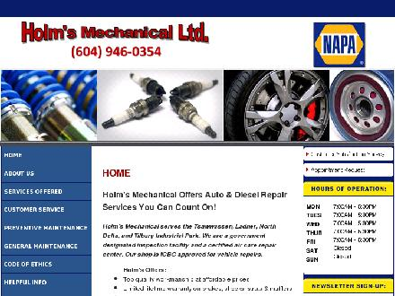 Holm's Mechanical Ltd (604-952-5036) - Onglet de site Web - http://www.holmsmechanical.com