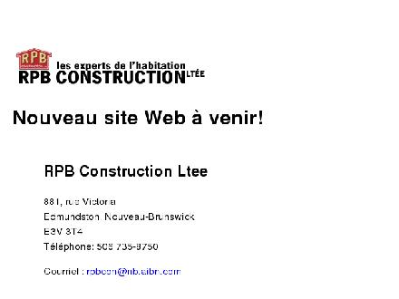 R P B Construction Ltée (1-855-211-0750) - Website thumbnail - http://www.rpbconstruction.com