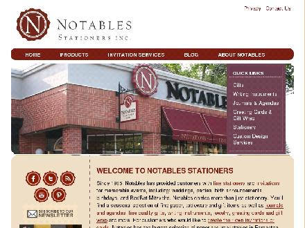 Notables Stationers Inc (780-488-4625) - Website thumbnail - http://www.notables.ca