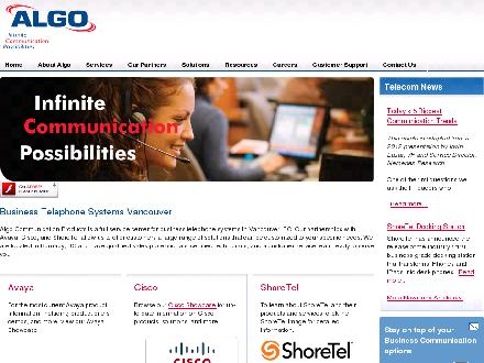 Algo Communication Products Ltd (604-438-3333) - Onglet de site Web - http://www.algo.ca
