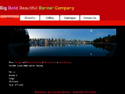 Big Bold Beautiful Banner Co Inc (250-477-7753) - Website thumbnail - http://www.bigboldbeautifulbanner.com
