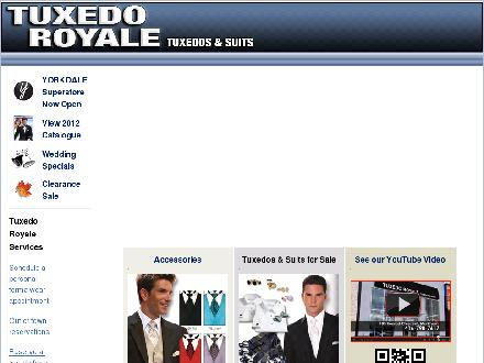 Tuxedo Royale (905-474-0304) - Website thumbnail - http://www.tuxedoroyale.com