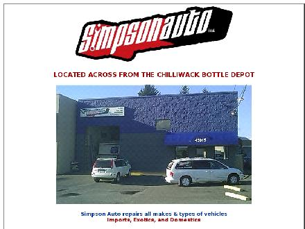 Simpson Auto Ltd (604-701-3175) - Website thumbnail - http://www.simpsonautorepair.com