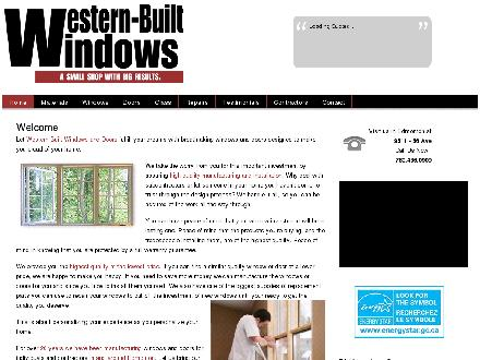 Western-Built Windows & Doors Ltd (780-436-0909) - Onglet de site Web - http://www.westernbuiltwindows.com