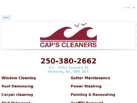 Cap's Cleaners (250-380-2662) - Website thumbnail - http://www.capscleaners.ca