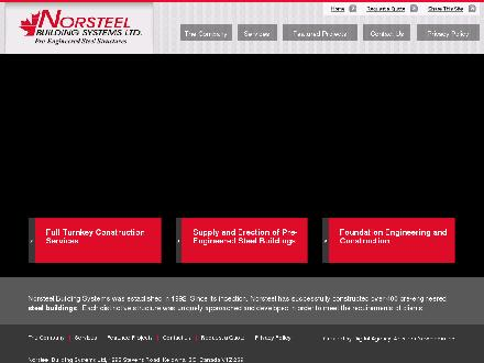 Norsteel Building Systems Ltd (1-800-932-9131) - Website thumbnail - http://www.norsteelbuildingsystems.com