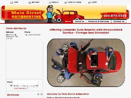 Main Street Automotive (604-879-5595) - Website thumbnail - http://www.mainstreetautomotive.ca
