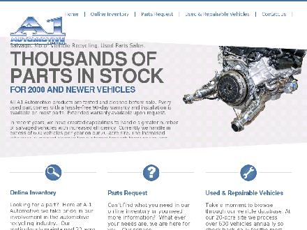 A-1 Automotive Ltd (1-855-280-3480) - Website thumbnail - http://www.a1automotive.net