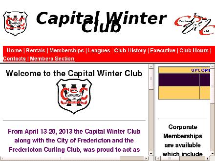 Capital Winter Club (506-452-0020) - Onglet de site Web - http://www.capitalwinterclub.com